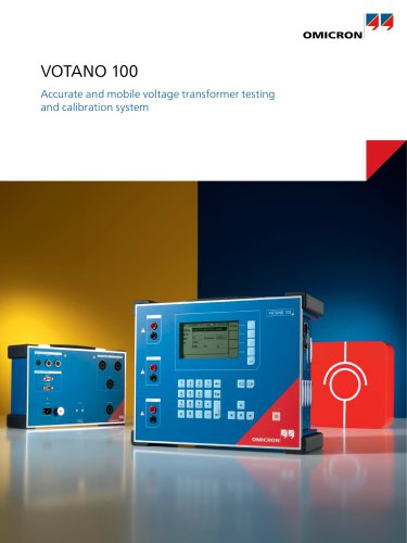 VOTANO 100 - Accurate and mobile voltage transformer testing and calibration system