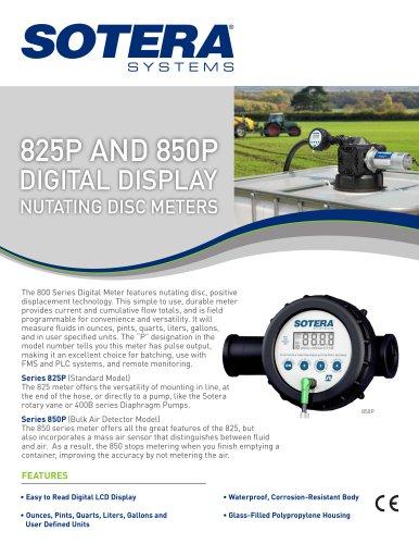 825 AND 850P Digital Display Nutating Disc METERS