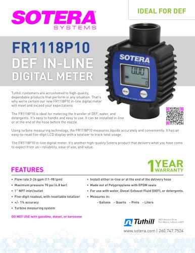 FR1118P10 In-line Meter