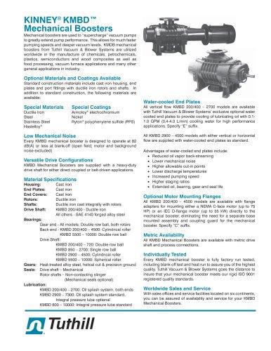 Kinney® KMBD Vacuum Boosters