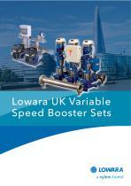 Lowara UK Variable Speed Booster sets
