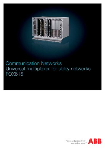 Universal multiplexer for utility networks FOX615 - Kopex