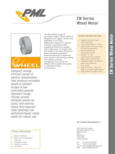EW Series Wheelmotors