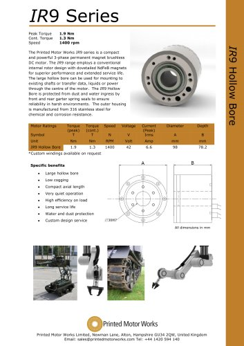 IR9 Series Hollow Bore