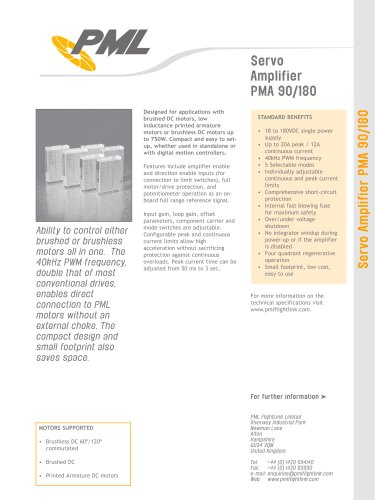 PMA90/180 Servo Amplifier