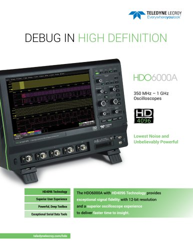 DEBUG IN  HIGH DEFINITION HDO6000A