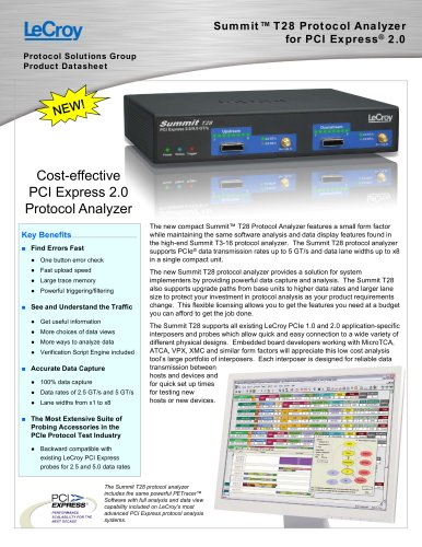 Summit?T28 Protocol Analyzer for PCI Express® 2.0