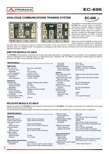 EC-696 Analogue Communications training system