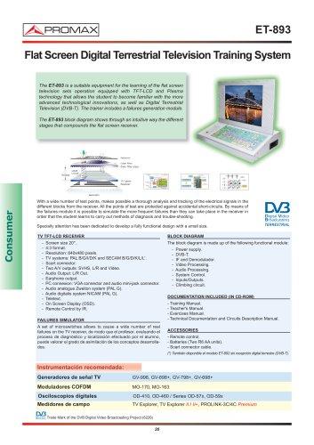 ET-893 Flat Screen Digital Terrestrial Television Training System