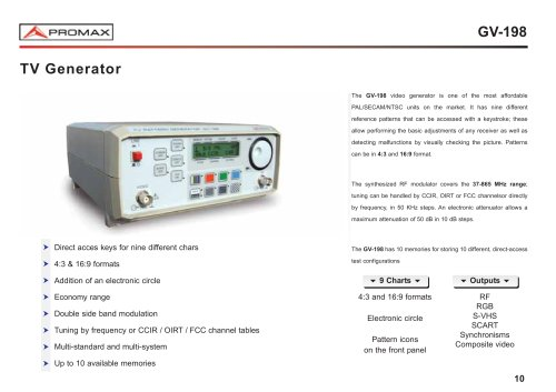 GV-198 Video generator