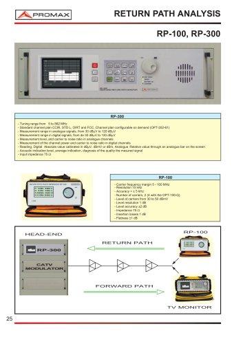 RP-100, RP-100Q Return Path multi-carrier generator