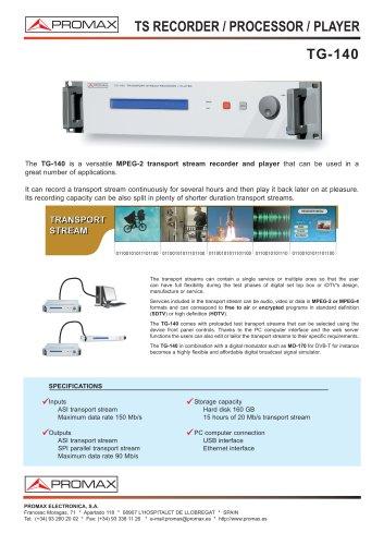TG-140 TS Recorder / Processor / Player