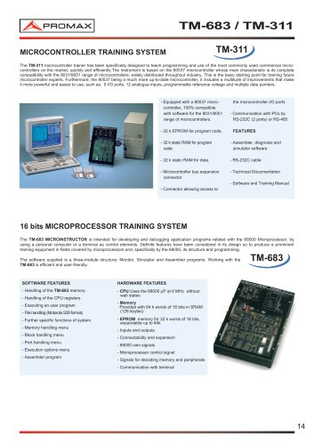 TM-683 Microprocessor training system
