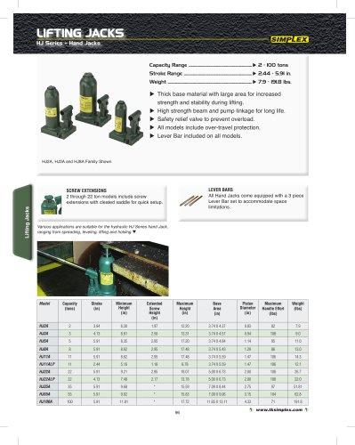 Hydraulic Jacks Section