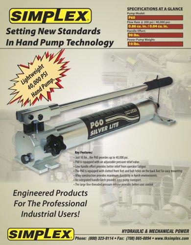 P60 Ultra High Pressure Hand Pump