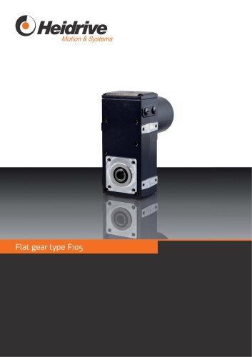 Flat gear type F105