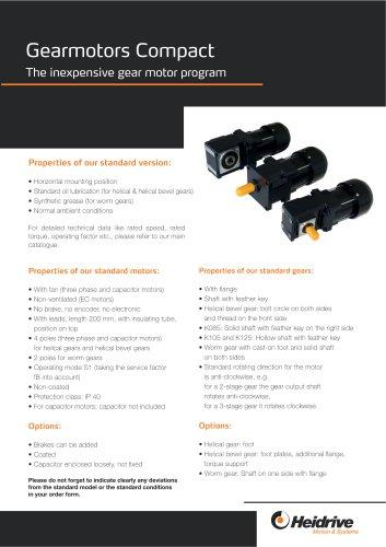Gear motors compact