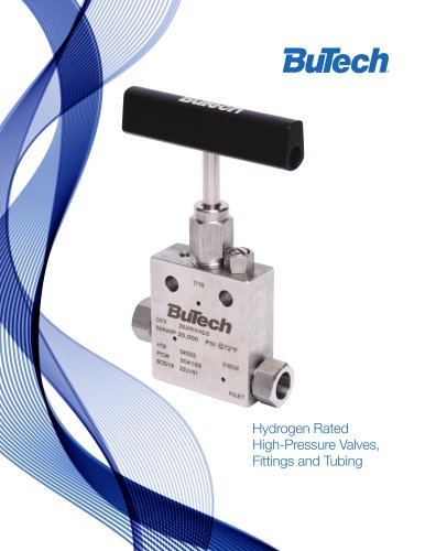 Butech Hydrogen Valves, Fittings, and Tubing