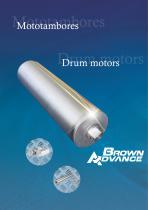 Drum motors for belts