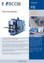 Faccin Hydraulic Ship Frame Bender FB Series