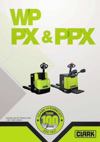 Electric pallet trucks (WPio12, WP15, WPX18, WPX20, PPXS20, PX20)