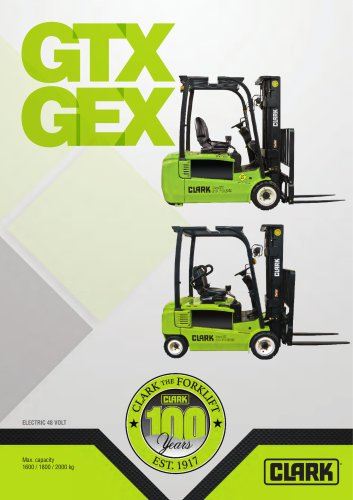 Electric three-wheel forklift GTX GEX 16-20s