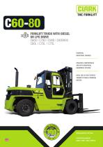 Forklift with diesel or LPG drive C60-80