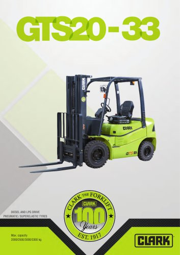 Forklift with diesel or LPG drive GTS20-33