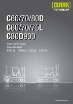 Specification sheet C60/70/80D C60/70/75L C80D900