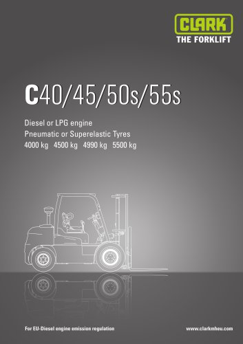 Specification sheet CLARK C40/45/50s/55s EU