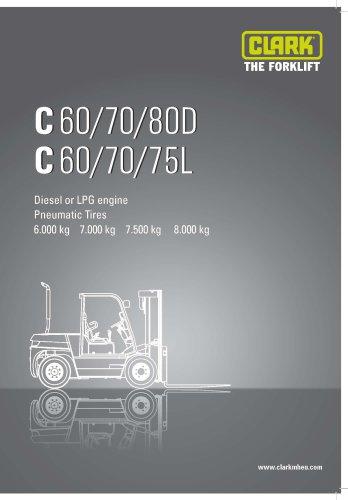 Specification sheet CLARK C60/70/75/80