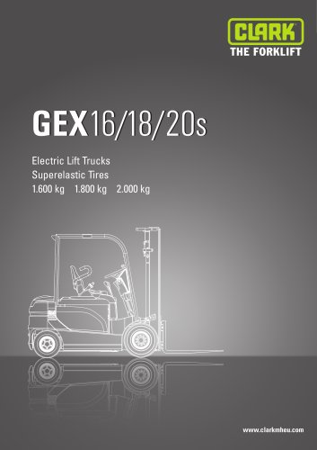 Specification sheet Clark GEX 16-20s