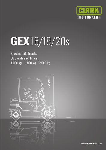 Specification sheet CLARK GEX16/18/20s
