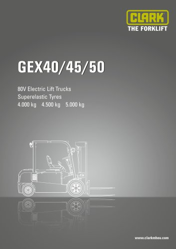 Specification sheet CLARK GEX40/45/50