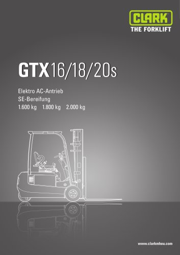 Specification sheet Clark GTX 16-20s
