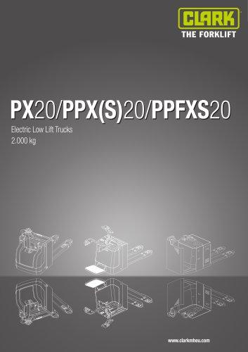 Specification sheet PX20/PPXS20/PPFXS20