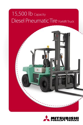 15,500 lb Internal combustion pneumatic tire forklift