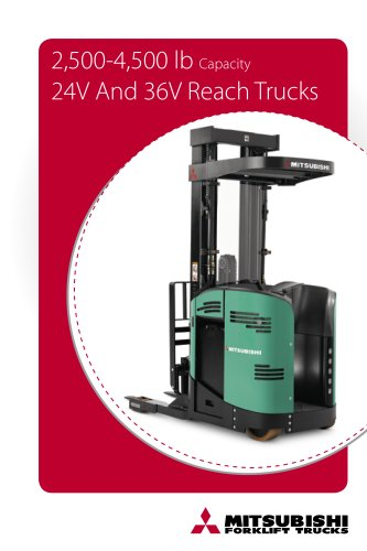 2,500-4,500 lb Capacity 24V And 36V Reach Trucks