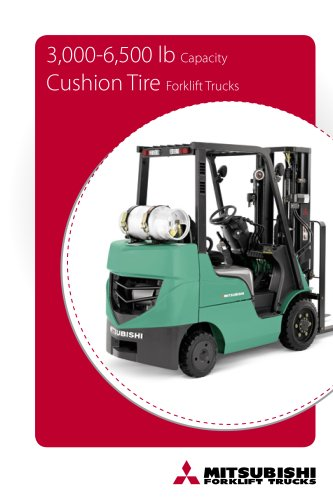 3,000-6,500 lb Internal combustion cushion tire forklift