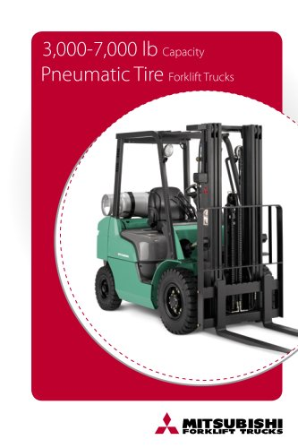 3,000-7,000 lb Internal combustion pneumatic tire forklift