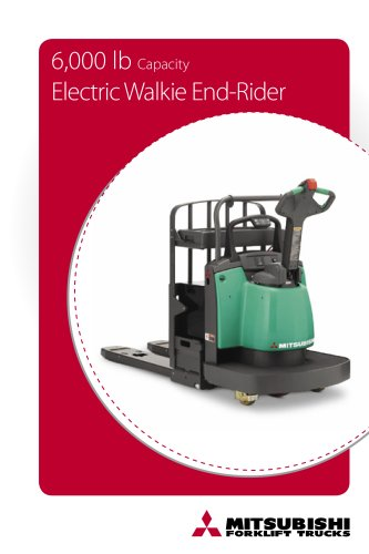 6,000 lb Capacity Walkie End-rider