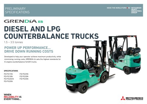 DIESEL AND LPG COUNTERBALANCE TRUCKS