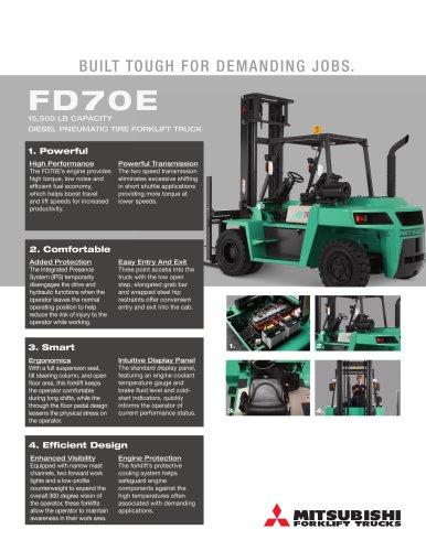 FD70E 15,500 LB CAPACITY