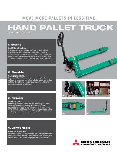 Hand Pallet  truck 5 500 lb capacity