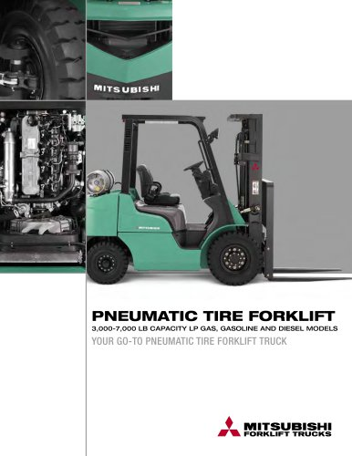 IC PNEUMATIC TIRE FORKLIFT TRUCKS