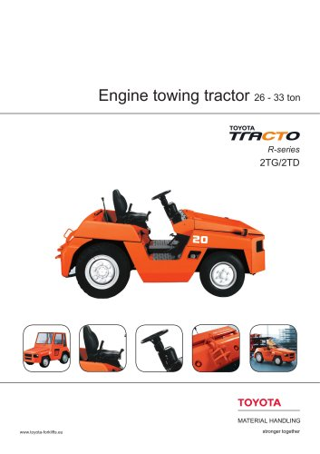 2TD and 2TG engine powered towing tractors