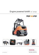 Tonero - Engine powered forklift 1.5 - 3.5 ton