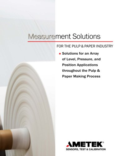 Measurement Solutions for Pulp & Paper Industry