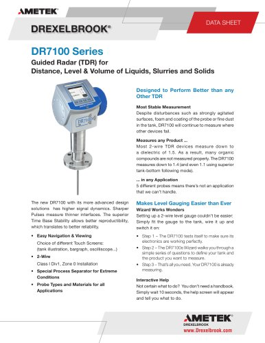 TDR Level Measurement DR7100 Series
