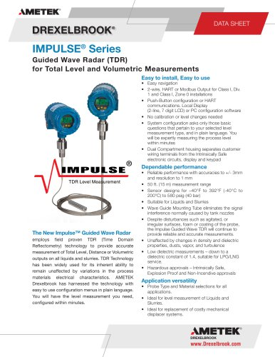 TDR Level Measurement TXXXX Series, Impulse